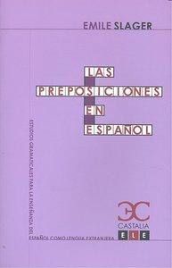 Preposiciones en español,las