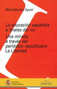 Educacion española a finales del xix