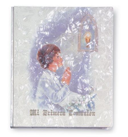 Mi primera comunion libro recuerdo grande nacar cg2 niÑo