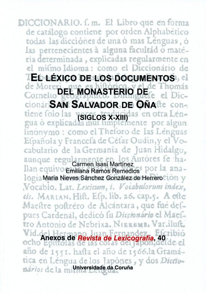 Lexico de los documentos del monasterio de san salvador de o