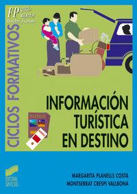 Informacion turistica en destino