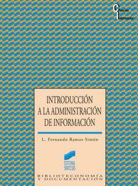 Introduccion a la administracion de informacion