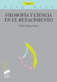 Filosofia y ciencia en el renacimiento