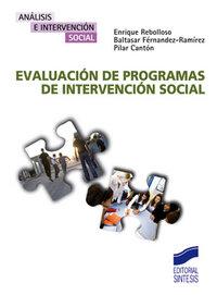 Evaluacion de programas intervencion social