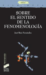 Sobre el sentido de la fenomenologia