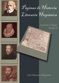 Paginas de historia literaria hispanica