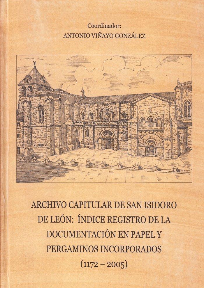 Archivo capitular de san isidoro de leon : indice registro d
