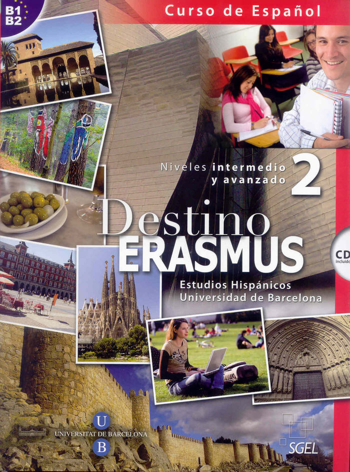 Destino erasmus 2 intermedio (alumno b1+b2) (+ cd)