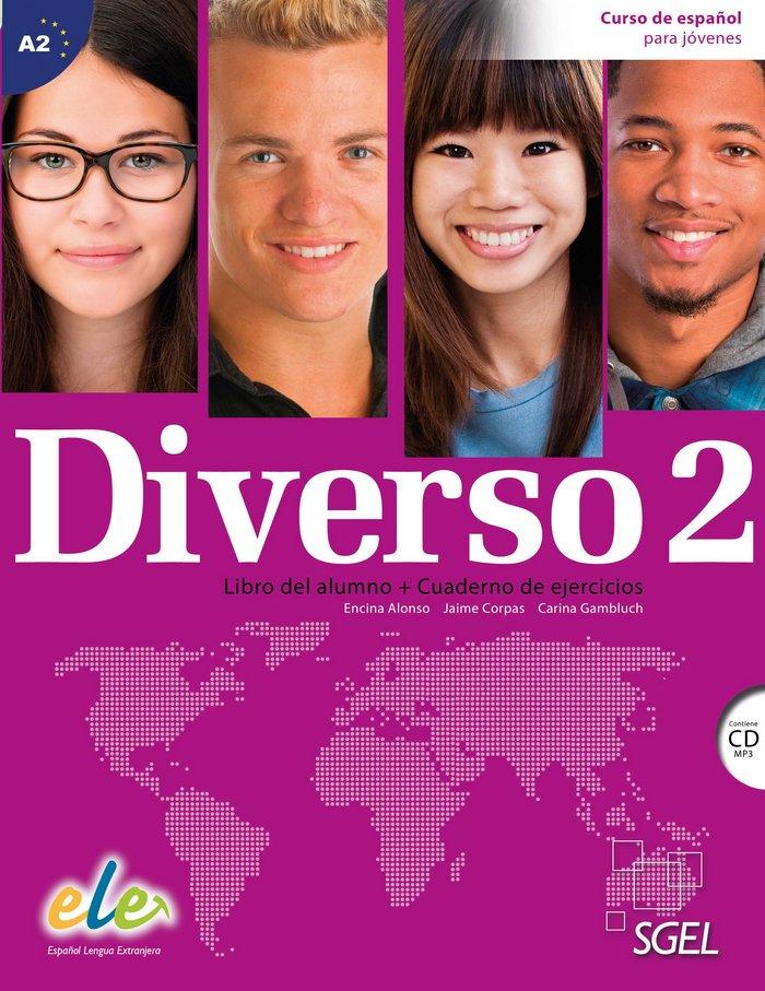 Diverso 2 (libro alumno + cuaderno de ejercicios) + cd