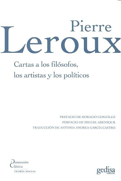 Cartas a los filosofos a los artistas y los politicos