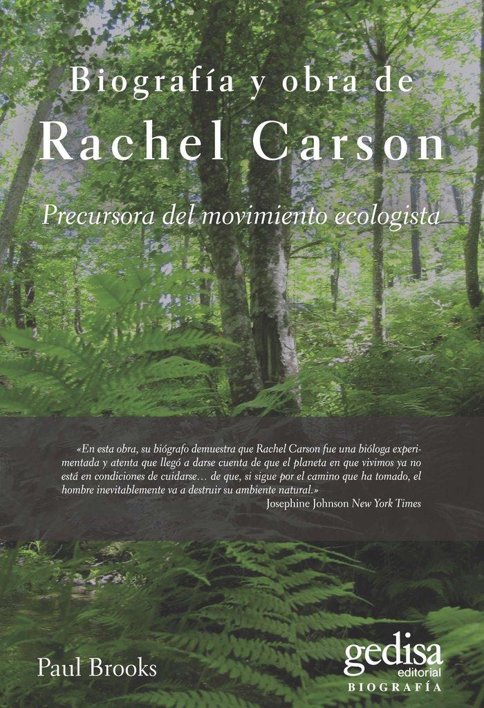 Biografia y obra de rachel carson precursora del movimiento