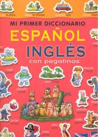 Mi primer diccionario español ingles con pegatinas (rojo)