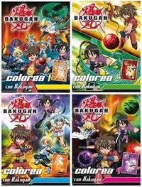 Bakugan battle brawlers colorea 4 titulos