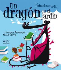 Un dragon en el jardin imprenta