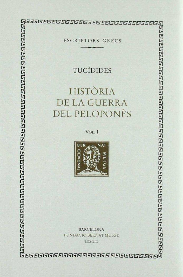 Historia de la guerra del pelopones - vol i