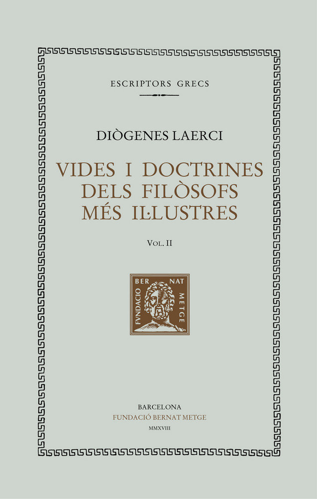 Vides i doctrines dels filosofs mes il lustres vol ii tela