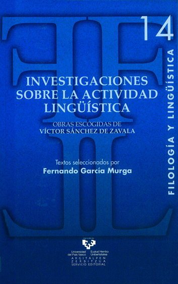Investigaciones sobre la actividad linguistica
