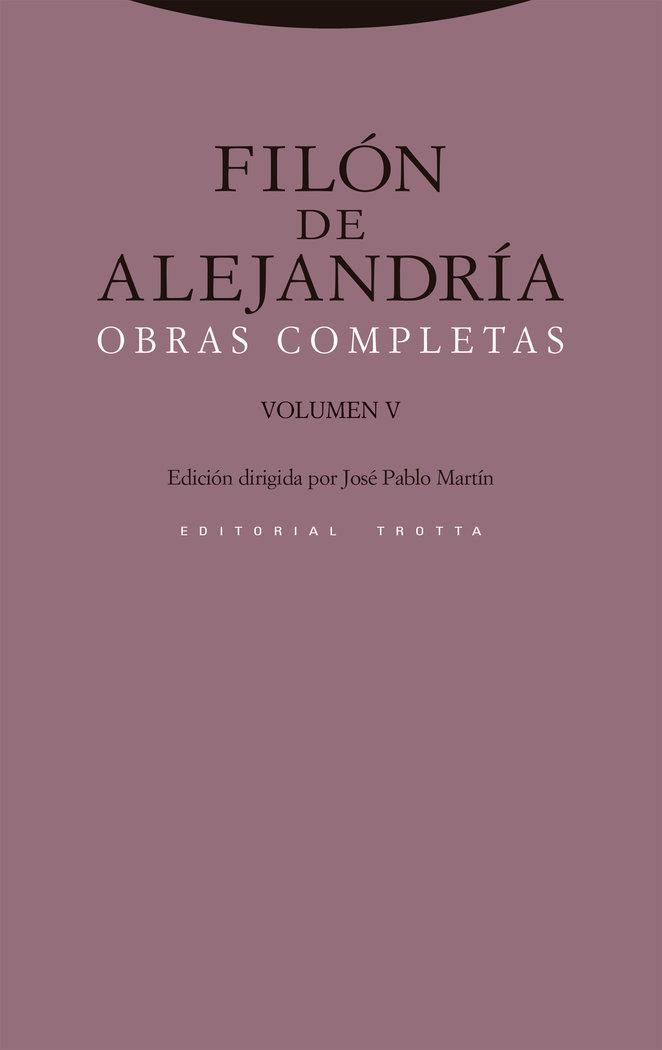 Filon de alejandria obras completas v