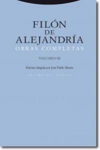 Filon de alejandria obras completas iii