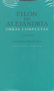 Filon de alejandria obras completas iv
