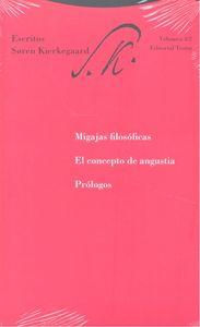 Migajas filosoficas el concepto de angustia y prologos