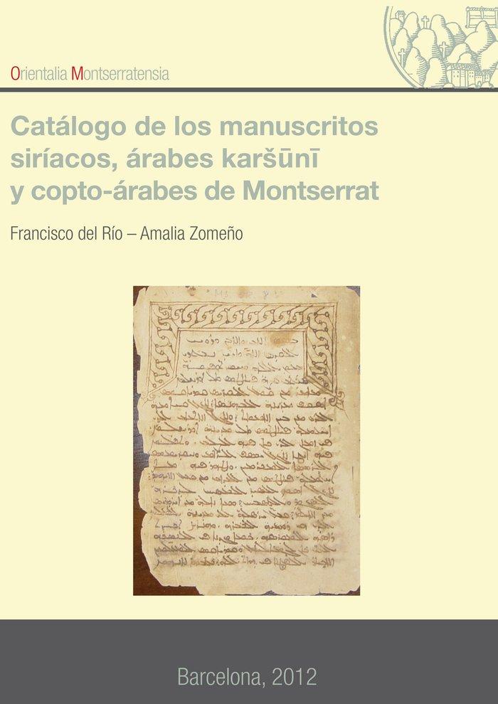 Catalogo de los manuscritos siriacos, arabes karsuni, y copt