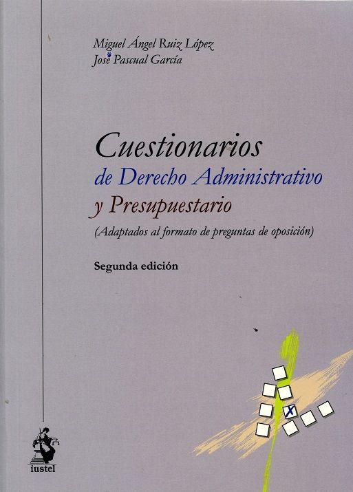 Cuestionarios de derecho administrativo y presupuestario