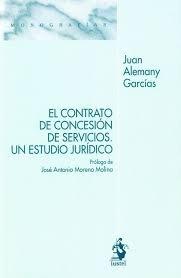 El contrato de concesion de servicios