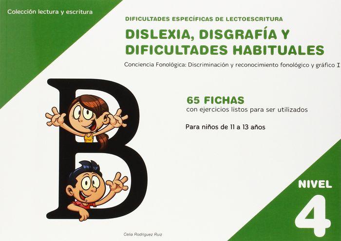 Dislexia nivel 4 disgrafia dificultades habituales