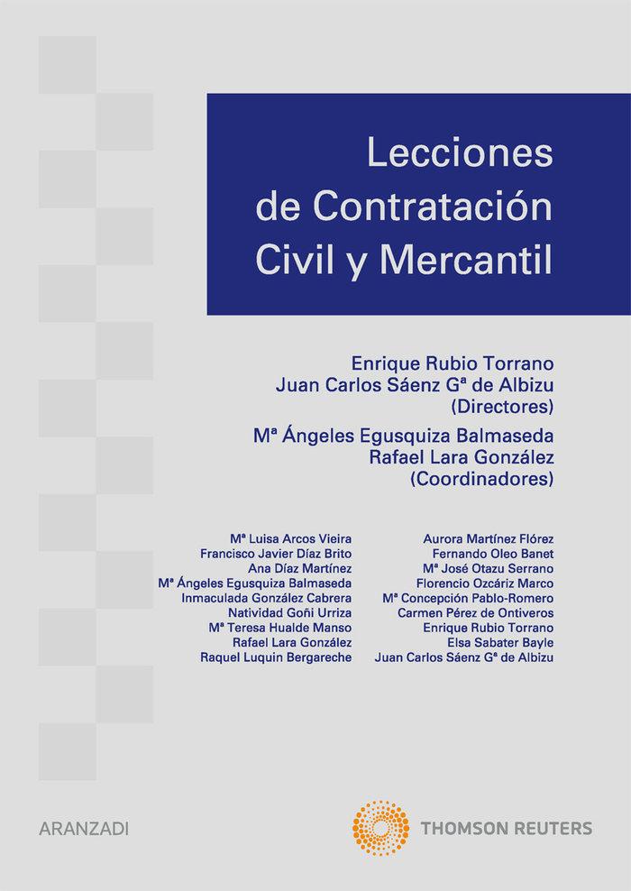 Lecciones contratacion civil y mercantil