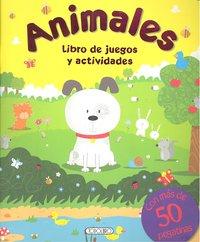 Libro juegos y actividades 4 titulos. con pegatinas