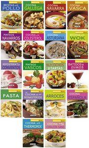 Minibiblioteca de cocina (18 titulos)