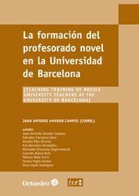 Formacion del profesorado novel en la universidad de barcelo