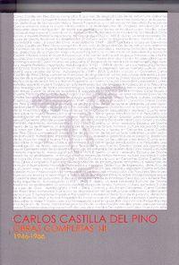 Carlos castilla del pino obras completas i-ii