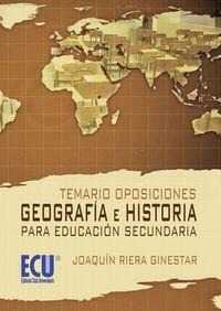 Temario oposiciones geografia e historia para educacion se