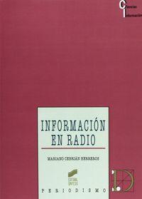 Informacion en radio