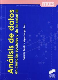 Analisis de datos en ciencias sociales y de la salud iii