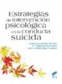 Estrategias de intervencion psicologica en la conducta suici