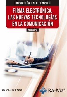 Firma electronica las nuevas tecnologias en la comunicacion