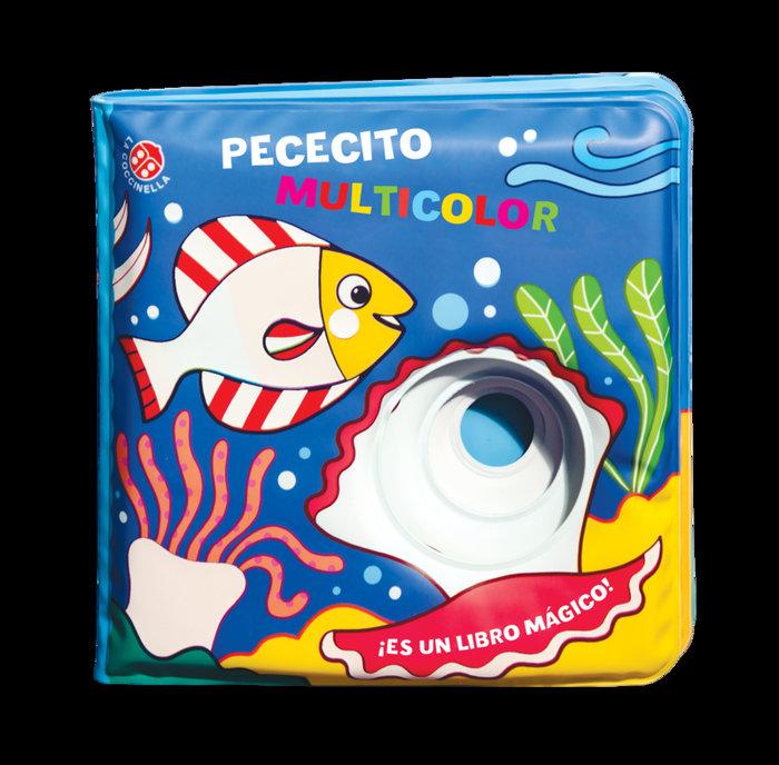 Pececito multicolor libro baño