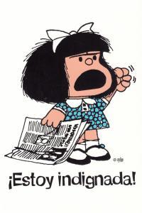 Mafalda estoy indignada cuaderno grande