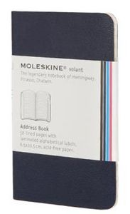 Addressbook azul blanda xs