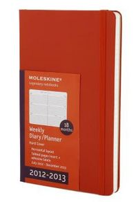 Academic diaries 2012 2013 red 18 months weekly l rojo hori
