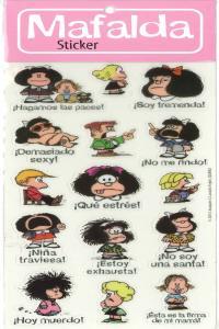 Pack stickers mafalda 1 (6 copias)