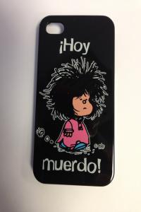 Carcasa iphone 4s mafalda hoy muerdo negra