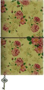 Libreta grande rosas claras