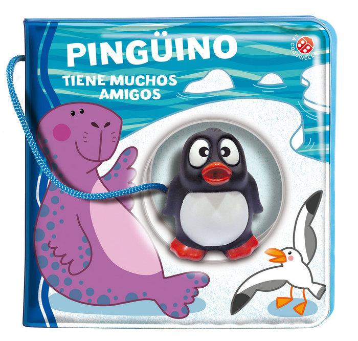 Pinguino tiene muchos amigos libro baño