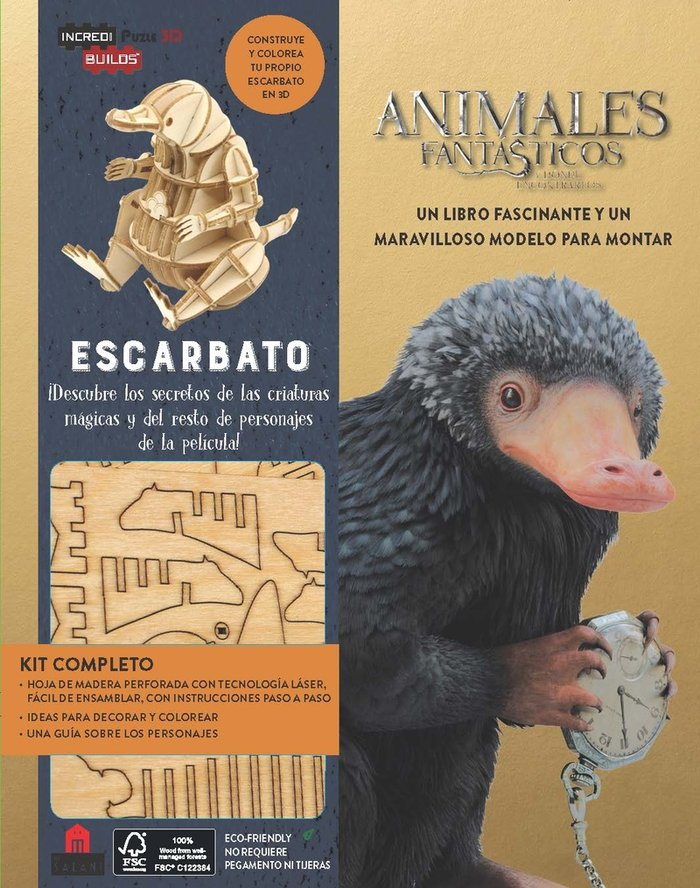 Incredibuilds animales fantasticos escarbato
