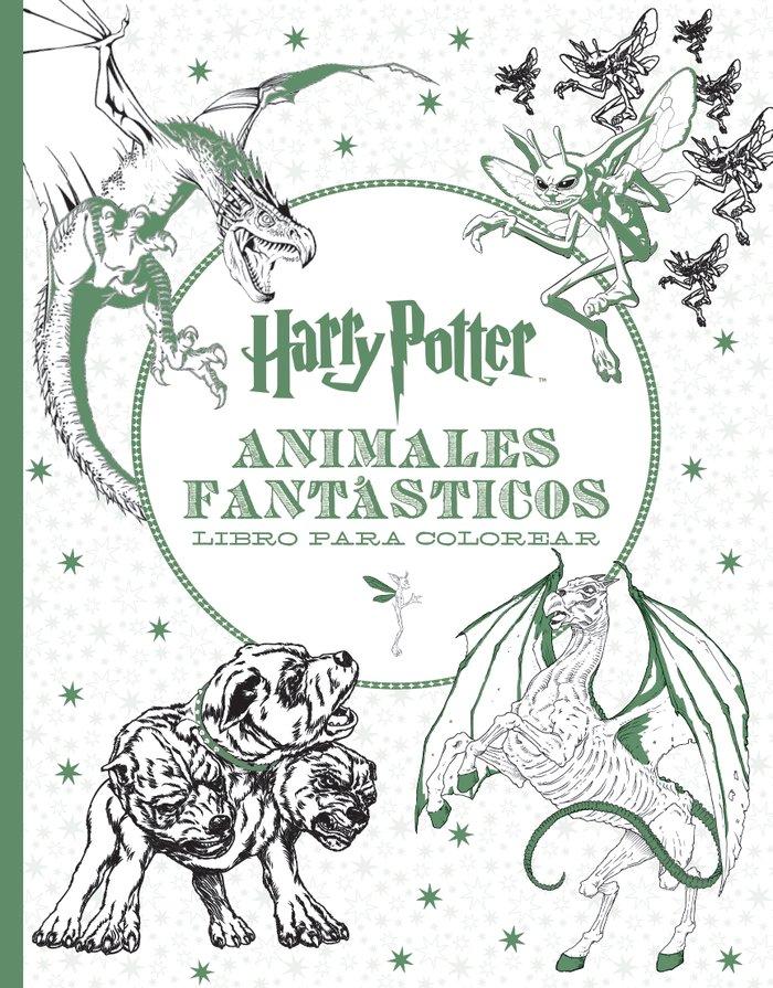 Harry potter animales fantasticos libro para colorear