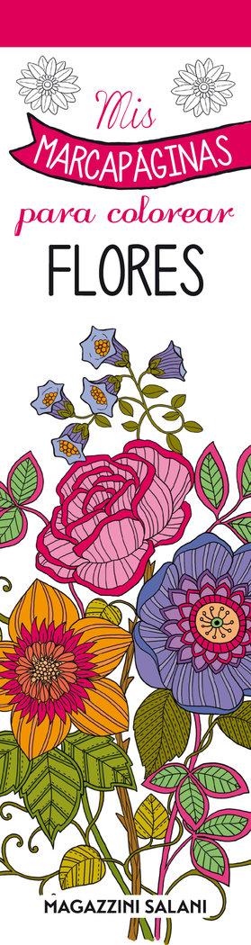 Mis marcapaginas para colorear flores